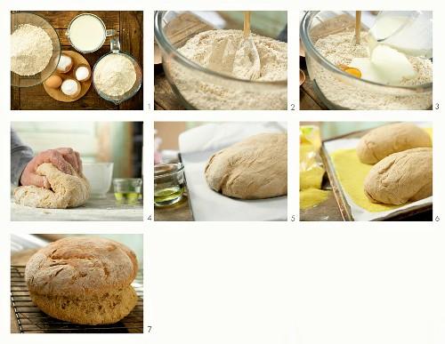 How to bake Irish soda bread with wholewheat flour