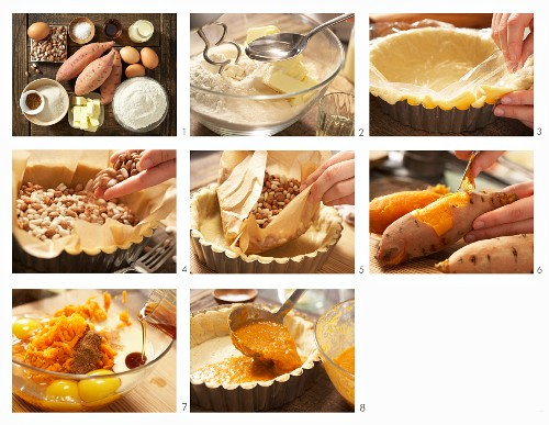 How to prepare a sweet potato pie with maple syrup