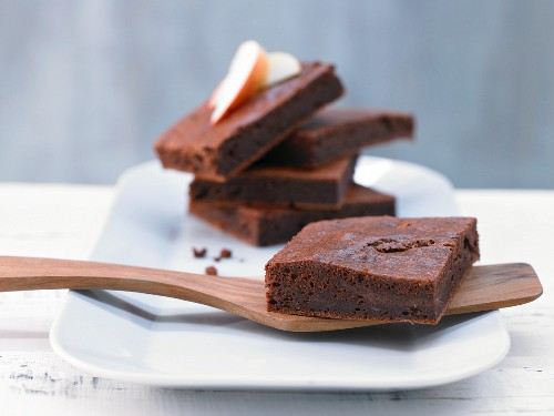 Apple brownies with vanilla