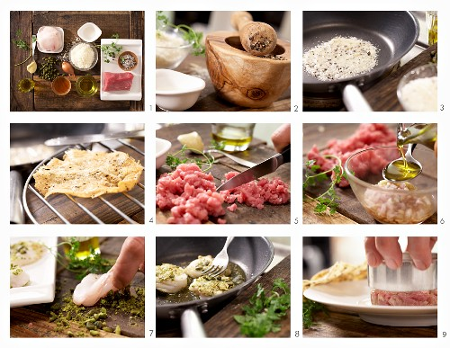 How to prepare veal tartare with monkfish