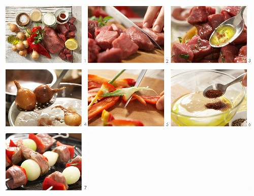 How to prepare Kebabs with lamb, veal, peppers