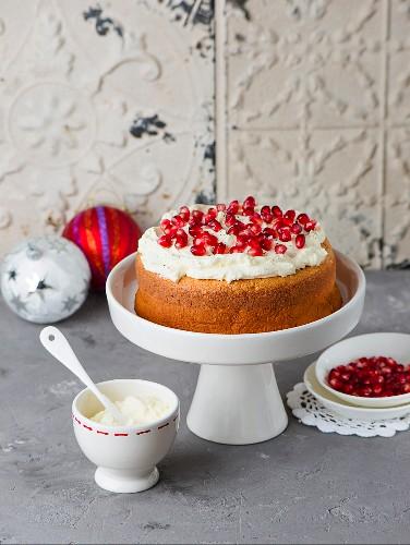 Pomegranate cake for Christmas