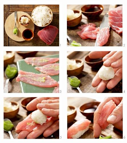 How to make tuna nigiri