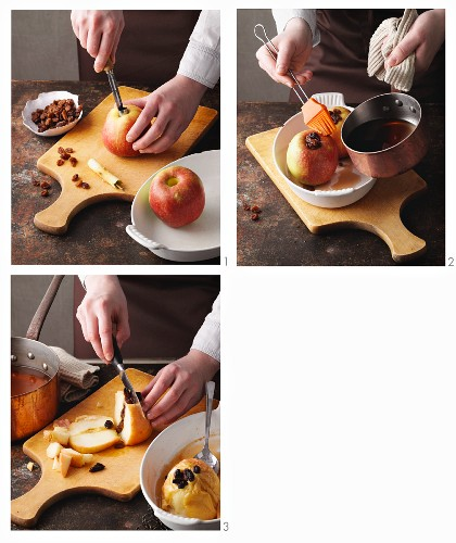 Baked apple punch being made