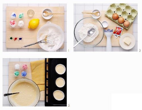 How to make colourful cupcakes
