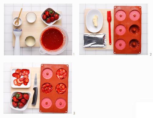 How to make crushed strawberry cream
