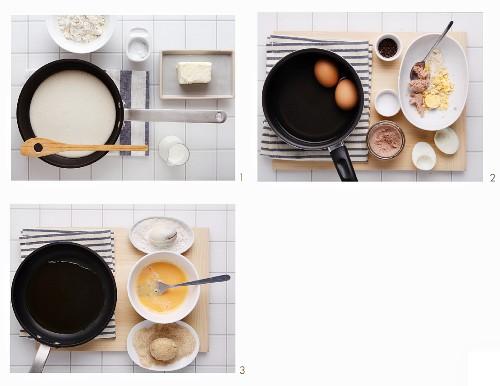 Making stuffed eggs
