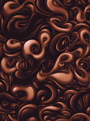 Brown swirling liquid