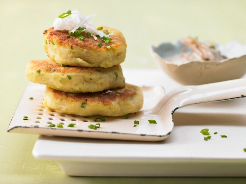 Potato biscuits with a mushroom cream