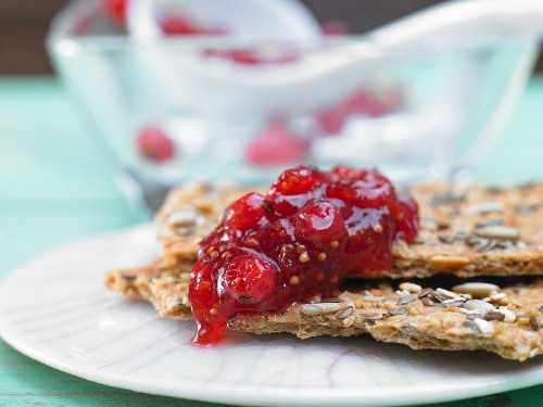 Fig and currant jam with cassis