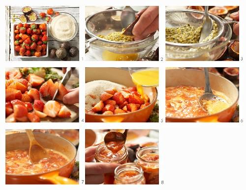 Strawberry and maracuja jam