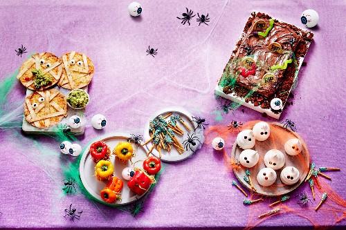 Kids yummy, goulish treats for Halloween