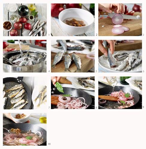 How to make Sarde alla Veneziana (Venetian style sardines, Italy)