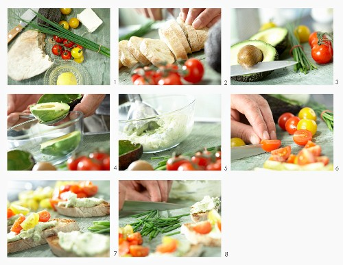 How to make crostini with avocado cream