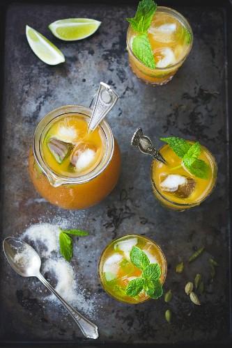 Moroccan Mojitos mint ice tea combination