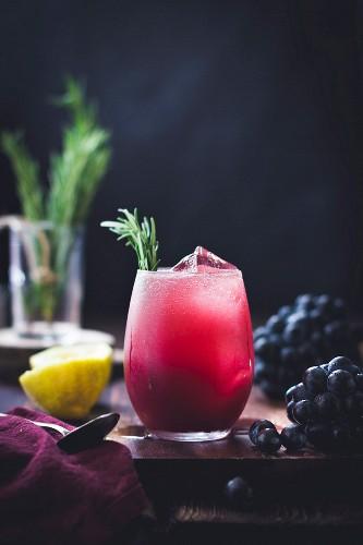 Rosemary grape cocktail