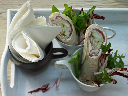 Wrappetizer with goat's cheese