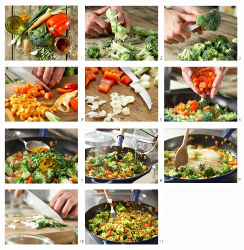 How to make a vegetable and couscous dish