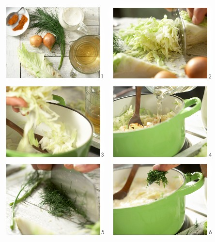 How to make pointed cabbage in soy cream