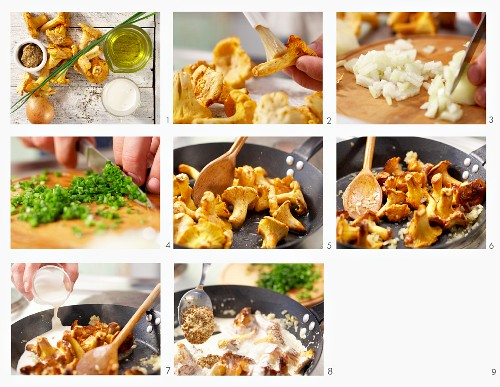 How to make mushrooms with mustard and chives