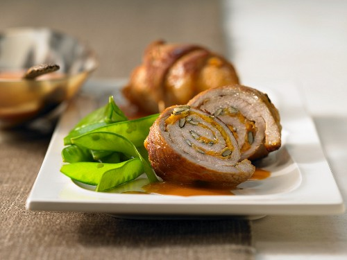 Styrian veal roulades with pumpkin kernels and pepper sauce (Austria)