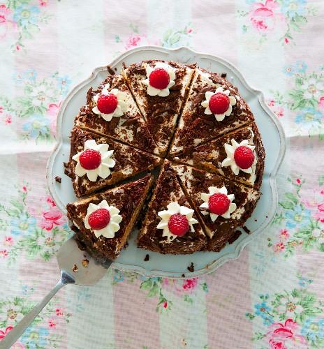 Himbeer-Schokoladen-Torte