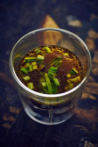 Hanoi style bouillon in a glass jar