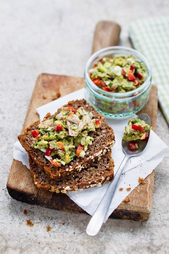 Avocado and tuna spread for bread