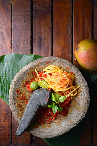 Sambal Mangga (Mango-Chili-Relish, Indonesien)