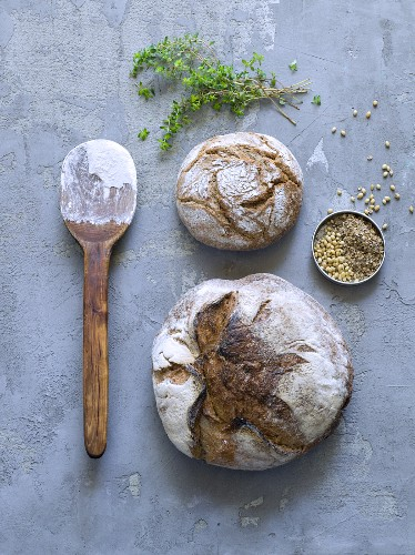 Bread, flour and various spices