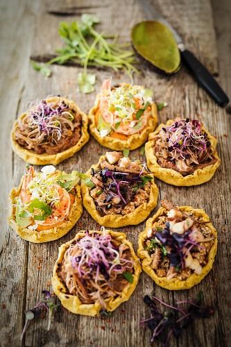 Sopes (Mexican cornflour patties)