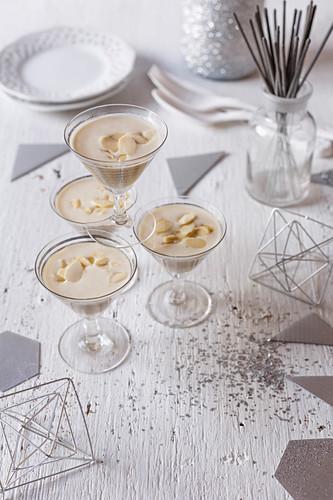 White almond gazpacho shots