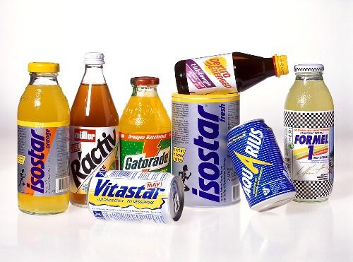 Fitness drinks: Ractiv, Gatorade, Vitastar, Isostar, Aquarius etc