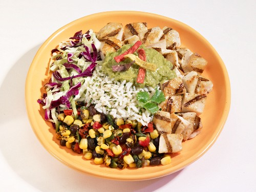 Southwest salad with rice (USA)