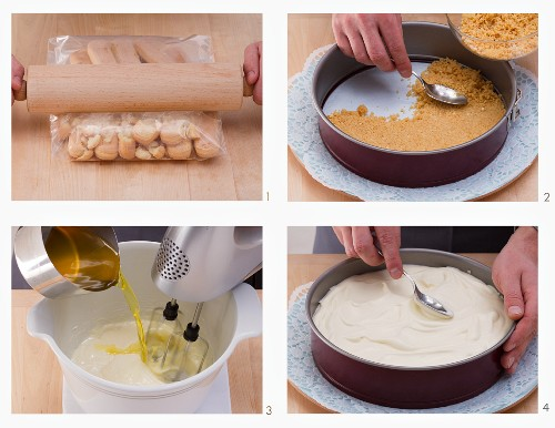 How to make a fresh cheesecake with jelly and a biscuit base