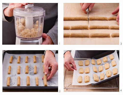 How to make macadamia and cinnamon biscuit sticks
