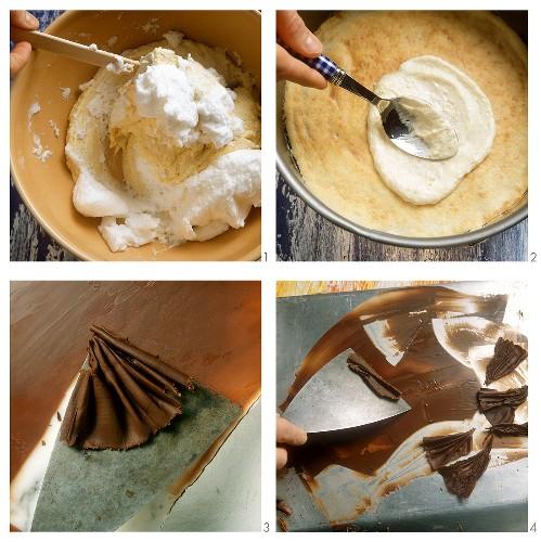 Making a tree cake