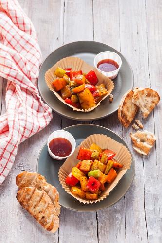 Grilled vegetables for vegetarians