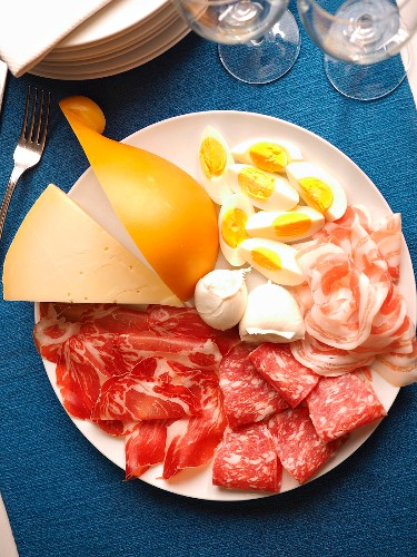 Fellata, traditional Easter dish of salami and cheeses neapolitan, Naples, Campania, Italy, Europe