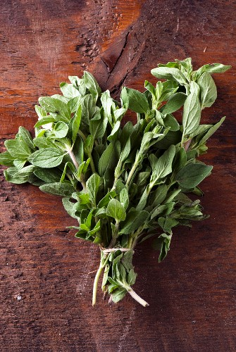 A small bunch of evergreen herb thyme