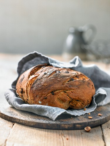 Chocolate bread with hazelnuts