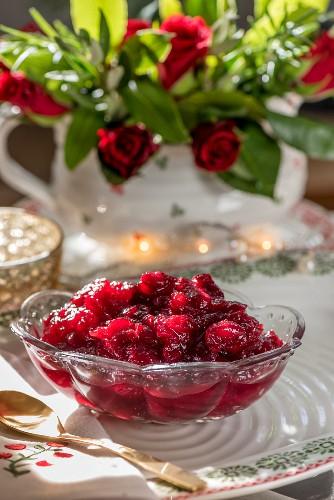 Cranberry-Fizz-Sauce als weihnachtliche Beilage