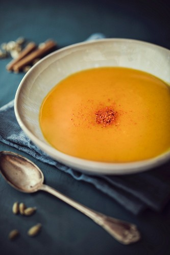 Spicy pumpkin and potato soup