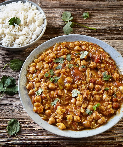 Chana masala (chickpea curry, India)