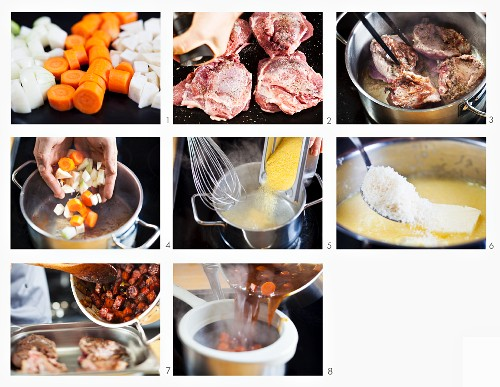 How to make veal cheeks with polenta