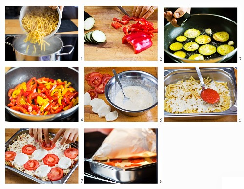How to make macaroni pasta bake with red pepper