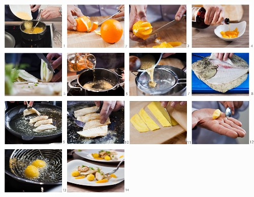 How to make turbot with orange quenelles