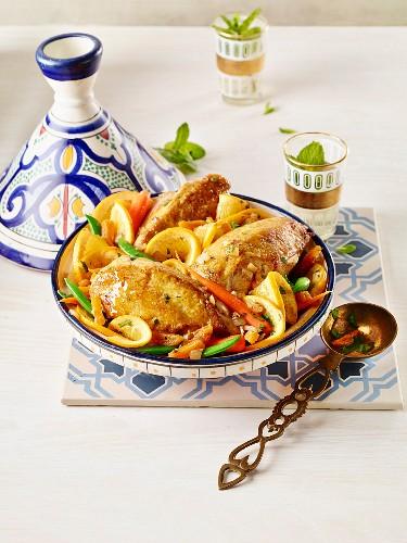 Chicken tajine with lemon