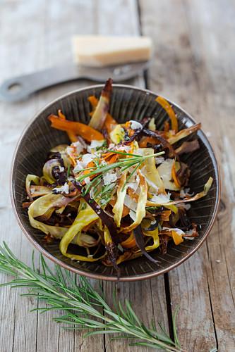 Root vegetable tagliatelle