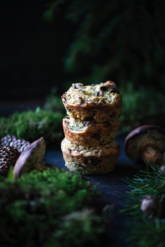 Vegan wild mushroom and potato cakes
